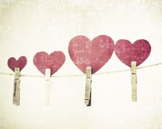 Hearts and clothespins