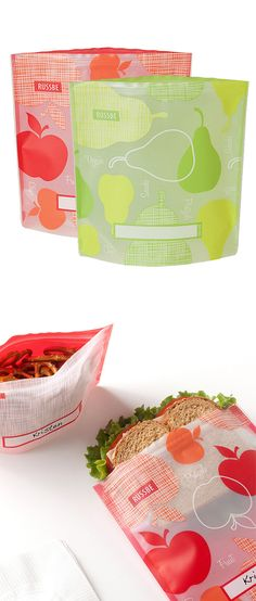 Reusable sandwich bags - go green with these washable bags for lunches and snacks