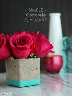 simple diy concrete vase