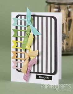 August Gallery Challenge | Paper Crafts & Scrapbooking | Kim Kesti | colorful, miss you