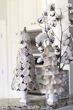diy christmas trees. adorable!