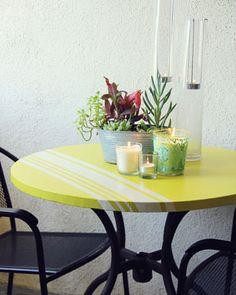 Simple patio table arrangement - Best Summer DIYs | Camille Styles