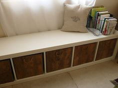 EXPEDIT (from Ikea) can be used for practically anything. Including an under-window storage bench