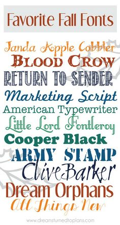 Some of the best free fall fonts!  ~~ {11 free fonts w/ easy download links}