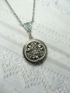 Silver Celtic Knot Locket Necklace - The ORIGINAL Silver CELTIC LOCKET  - Jewelry by BirdzNbeez -  Wedding Birthday Bridesmaids Gift. $26.00, via Etsy.