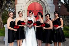 black and red bridesmaid dresses - {Tacia's choice}