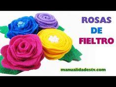 Cómo hacer rosas de fieltro 2 estilos con patron en espiral