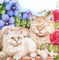 Debbie Cook paint cat, cat art, debbi cook, anim paint, artist debbi, dan lart, dog, cat illustr, cat furri
