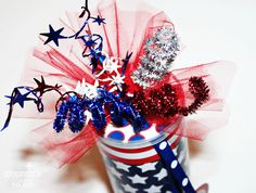 July 4th - Firework Favor Can Tutorial