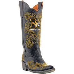 Gameday Missouri Tigers Ladies Cowboy Boots.