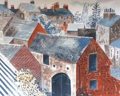 Emily Sutton/Rooftops, York/2013/watercolour