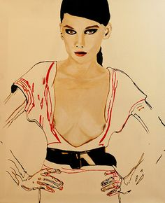 Untitled Fashion Painting Art Print // Limited by Leigh Viner