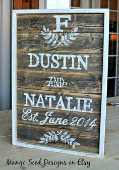 Vintage Customized Wood Pallet Wedding Signs On Pinterest