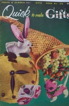 Vintage 1950s Toy Patterns Crocheted Gift Patterns by Revvie1, $6.00