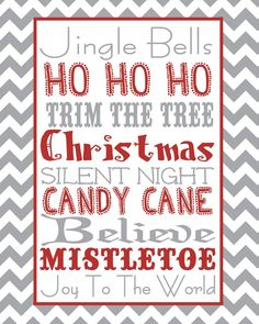 House Full Of Harrisons: Christmas Printables