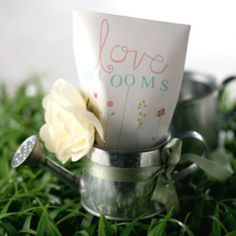 Watering Can -bridal shower gift and centerpiece
