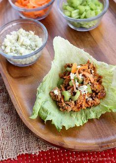Buffalo Wing Lettuce Wraps