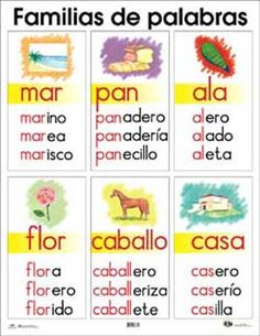 familias de palabras en español