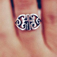 James Avery Scroll Cross Ring
