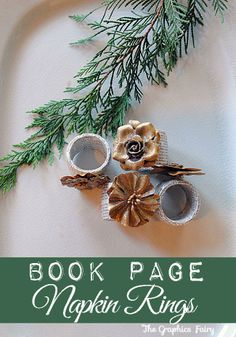 Make Book Page Napkin Rings