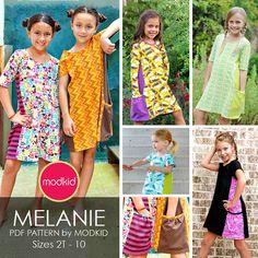 MELANIE Knit Dress PDF Downloadable Pattern by MODKID... by modkid, $8.99