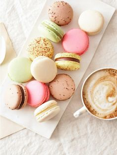 macaron, food, wedding desserts, french macaroons, cooki, french cafe, coffee cups, french desserts, pastel colors