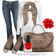 jean, fall fashions, red, fashion outfits, giraff, fall looks, fall outfits, animal prints, shoe