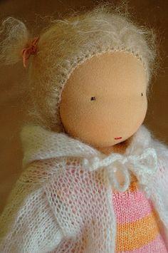 Waldorf doll hair