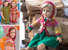 "Free cardigan pattern for 18"" doll"