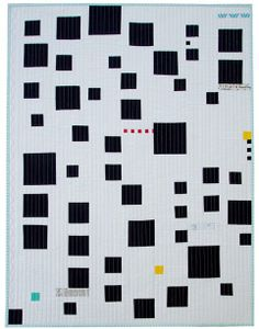 Love this modern quilt from Red Pepper Quilts: Floating Squares