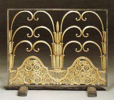 Fireplace screen by Edgar Brandt