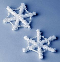 Make crystal snowflakes using pipe cleaners, string and borax. You can also make letters (like the first letter of each student's name), they love it!