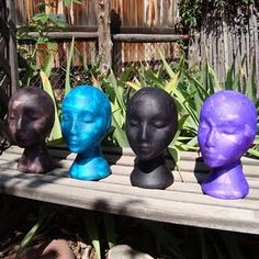 Tissue Paper Mache Heads-I'm SO gonna do one of these, but I want to use newspaper! lol