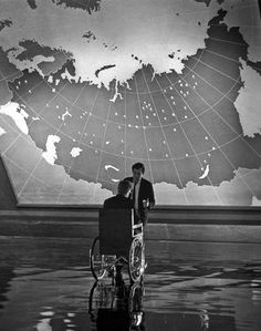Stanley Kubrick and Peter Sellers on the set of Dr Strangelove