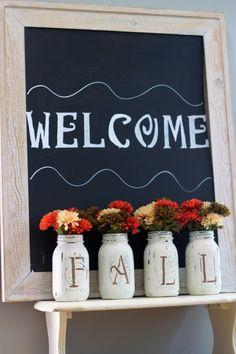 """Beautiful """"Fall"""" mason jars vases"""