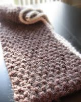 ...Knitting Up A Storm: Quick Holiday Knit: Doubled Looped Scarf Pattern. knitted in the round