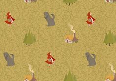 Red Riding Hood by Roland MacDonald, via Behance red riding hood, ride hood