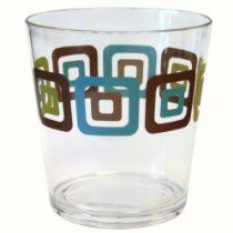 Corelle Coordinates Squared 14 Ounce Acrylic Glasses, Set of 6