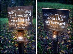 wedding signs decor wedding, idea, wedding receptions, paths, candles, outdoor signs, backyard weddings, wedding signs, outdoor receptions