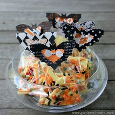Batty Treat Bags w/ Scrapbook Paper