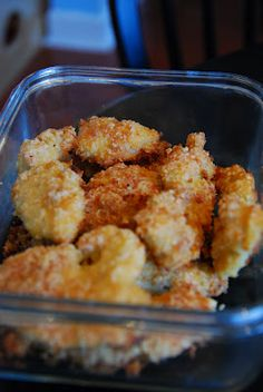 Lo-Carb Chicken Nuggets using parmesan and almond flour