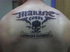 Marine Corps Tattoos: Marine Large Corps Tattoos Always Faithful ~ tattoosartdesigns.com Tattoo Ideas Inspiration