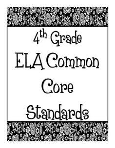 Common Core Posters - ELA 4th Grade
