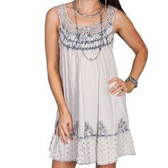 Scully Women's Lace Strap Ruffle Dress
