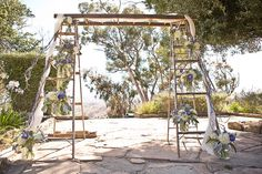 Vintage Ladder Wedding Arbor