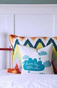 Dream big cloud pillow