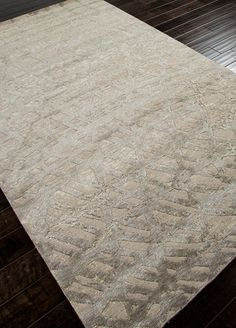 Downtown Raymond Waites Antique White Hand Knotted Rug  DT02