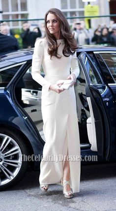 Kate Middleton Long Sleeve Prom Dress Formal Gown Thirty Club Dinner