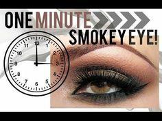 The 1 Minute Smokey Eye - #fastsmokey #smokeyeye #eyemakeup #oneminuteeyes  #eyetutorial - Love beauty? Go to bellashoot.com for beauty inspiration!