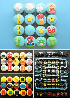 LOVE the robot cupcakes. :)
